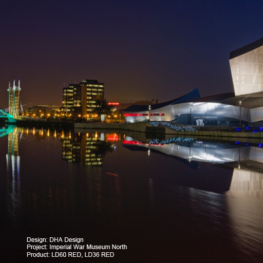 Imperial War Museum North Lightgraphix Creative Lighting Solutions