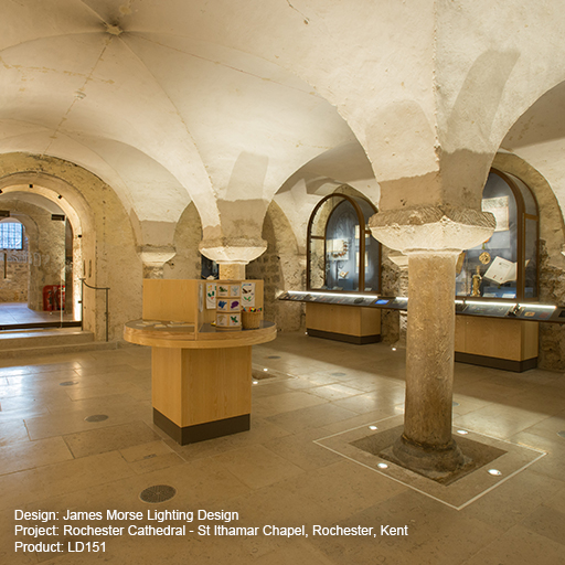 Rochester Cathedral - St Ithamar Chapel Lightgraphix Creative Lighting Solutions