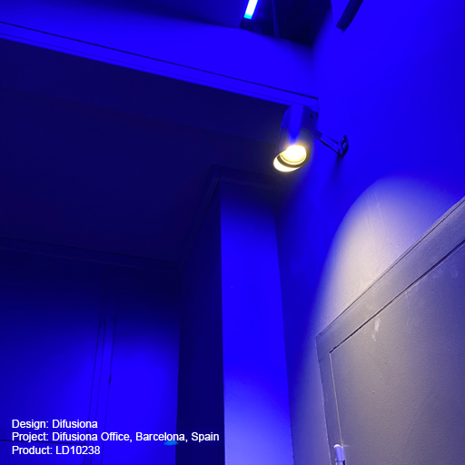 Difusiona Office, Barcelona, Spain Lightgraphix Creative Lighting Solutions