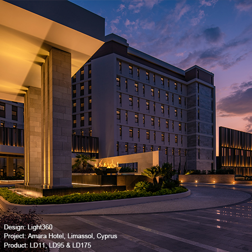 Amara Hotel. Limassol, Cyprus Lightgraphix Creative Lighting Solutions